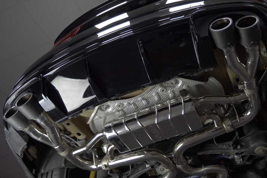 Capristo RS3/TTRS – Valved Exhaust System and CES-3 (4 Round Carbon Tips)