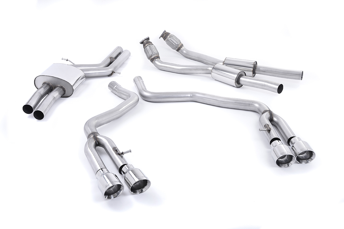 Milltek S6 / S7 4.0T Non Resonated Cat-Back Exhaust