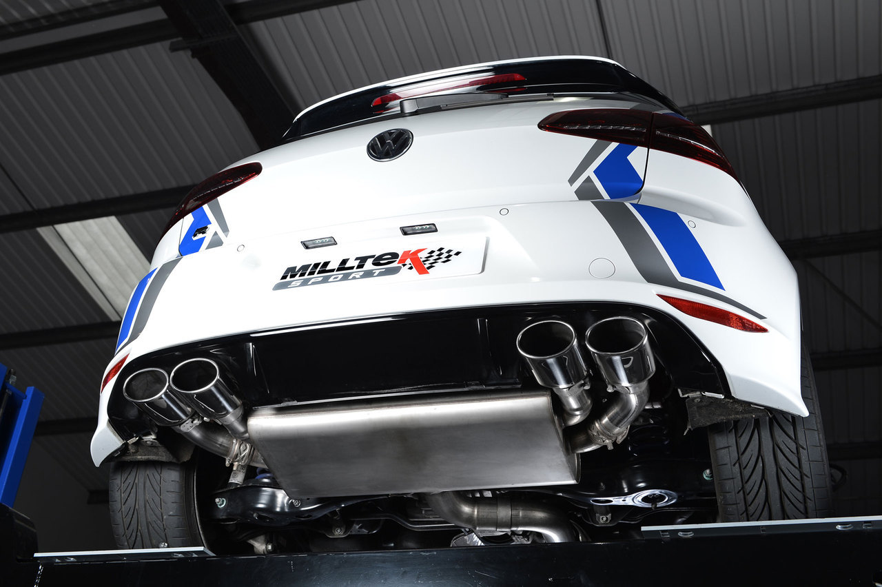 Milltek MK7 Golf R Cat-Back Valved Exhaust
